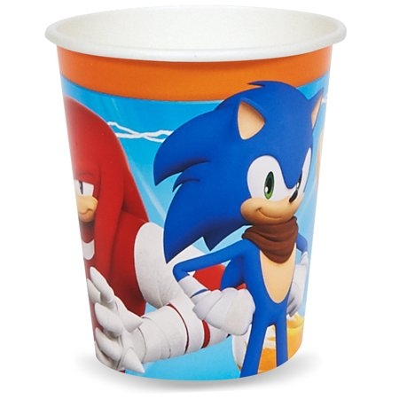 Sonic Boom Sonic The Hedgehog Party Supplies 8 Pack Paper Cups