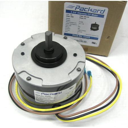 Packard Condenser Fan Motor 43405 for Carrier HC33GE208 1/6HP 1500 RPM 208-230 (Carrier Oem Condenser Fan)