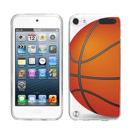 - One Tough Shield ® Slim-Fit TPU Case for Apple iPod Touch 5 5th / 6 6th Generation - Basketball