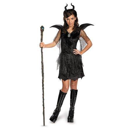 Tween Black Maleficent Gown Costume