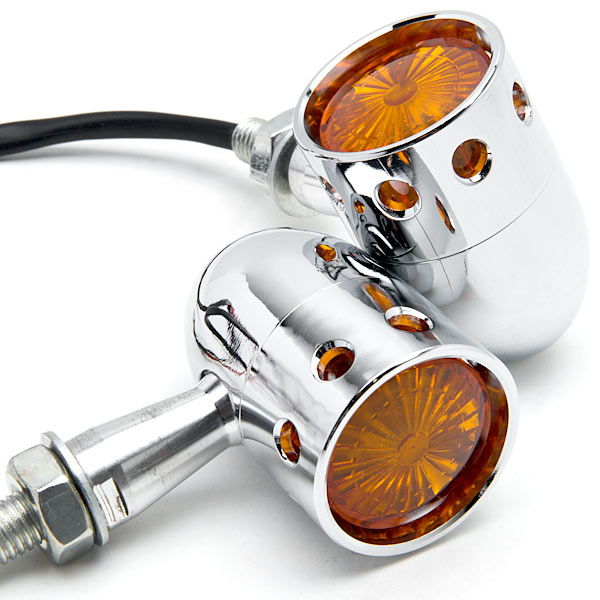 Krator 2pcs Chrome Motorcycle Turn Signals Blinker Lights For Harley Davidson Softail Night Train Deluxe FLSTNI