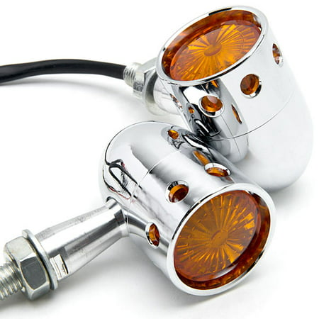 - Krator 2pcs Chrome Motorcycle Turn Signals Blinker Lights For Harley Davidson Softail Heritage Classic