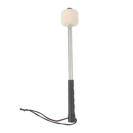 walfront durable bass drum mallet drumstick with wool felt head percussion marching band. Black Bedroom Furniture Sets. Home Design Ideas