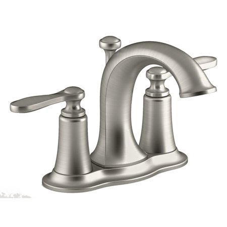 "Kohler R45780-4D1-BN 4"" Brushed Nickel Linwood Two Handle Centerset Lavatory Faucet"