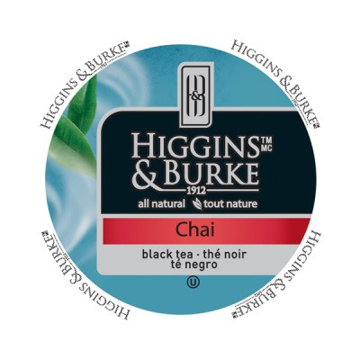 Higgins & Burke Specialty Tea Chai, RealCup portion pack for Keurig K-Cup Brewers