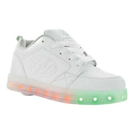 Kids Heel Shoes (Heelys Unisex-Kids Premium Lo Wheeled Heel Shoe, White, 2 M US Little)