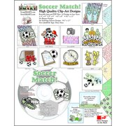 ScrapSMART Soccer Match Clip-Art CD-ROM, Colorful Illustrations for Scrapbook, Craft, Sewing