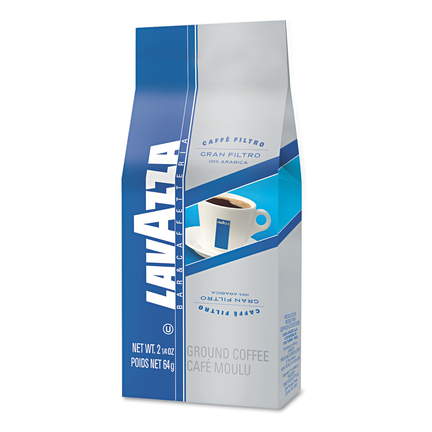 Lavazza Gran Filtro Italian Light Roast Coffee, Arabica Blend, Whole Bean, 2 1/5 Bag