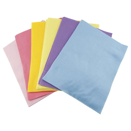 CPE Acrylic Felt Assortment, 9 x 12 Inches, Assorted Pastel Color, Pack of 25