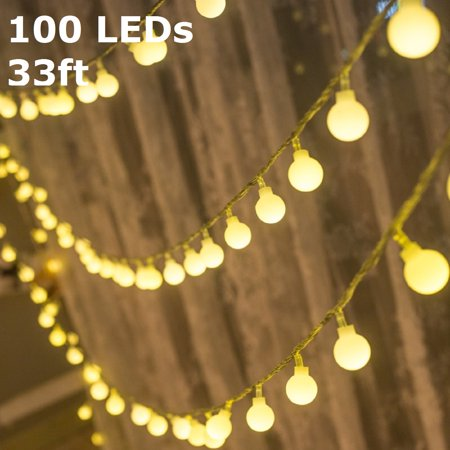 torchstar led globe string lights waterproof outdoor string lights christmas lights for party