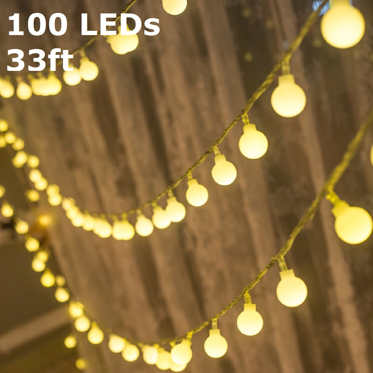 TORCHSTAR LED Globe String Lights, Waterproof Outdoor String Lights,  Christmas Lights For Party,