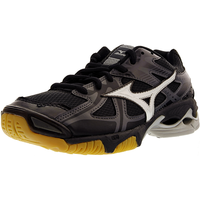 Mizuno Women's Wave Bolt 4 Black/Silver/Grey Ankle-High Running Shoe - 11M