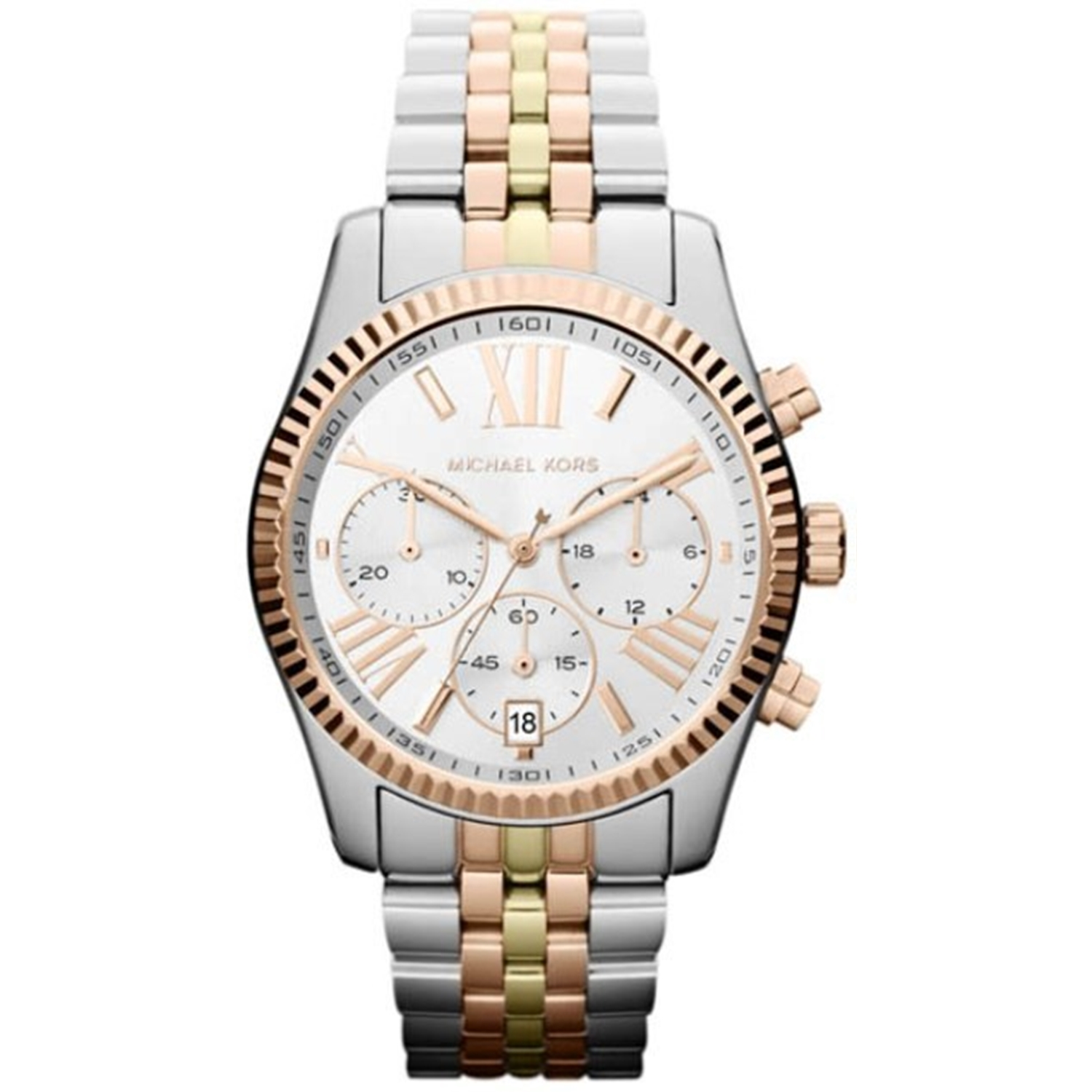 Michael Kors Women's Lexington MK5735 White Stainless-Steel Quartz Fashion Watch