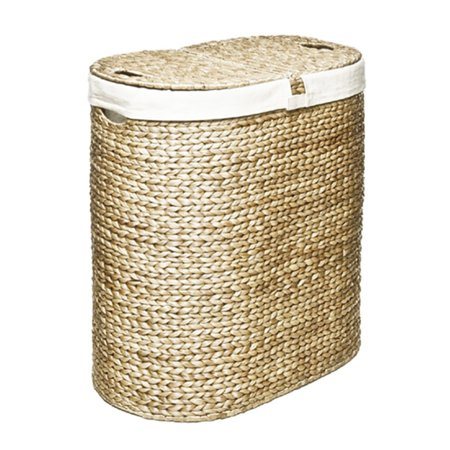 Water Hyacinth Lidded Double Hamper by Seville Classics