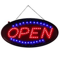 Neon LED Open Sign with Animated Motion Business Advertisement Board Electric Display Sign US Plug