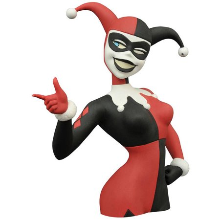 - Diamond Select Toys Batman Animated Series Harley Quinn Bust Bank