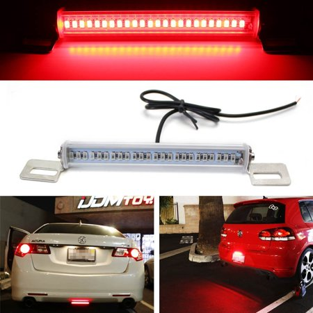 Brake Bar - iJDMTOY (1) Universal Fit Brilliant Red 24-SMD LED Light Bar For Car As Rear Fog Light or 3rd Brake Tail Lamp