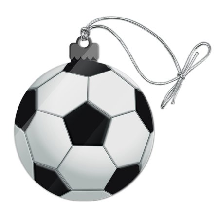 Soccer Ball Football Acrylic Christmas Tree Holiday Ornament - Football Christmas Ornaments