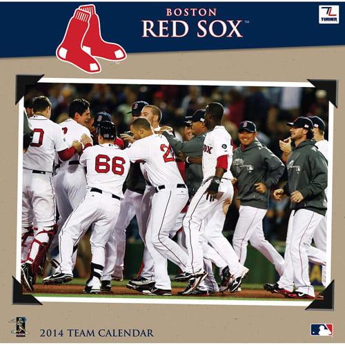 "Turner Licensing Boston Red Sox 2014 12"" x 12"" Team Wall Calendar"