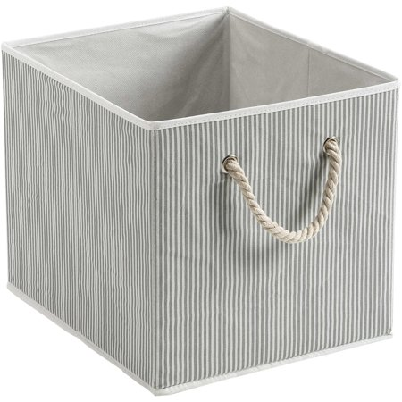 13 Box Unit - Better Homes and Gardens Fabric Cube Storage Bin with Rope Handle (12.75