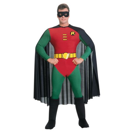 Robin Deluxe Adult Halloween Costume - One - Makeup For Robin Costume