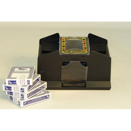 2 Deck Battery Powered Card Shuffler with Casino Cards - Casino Cards