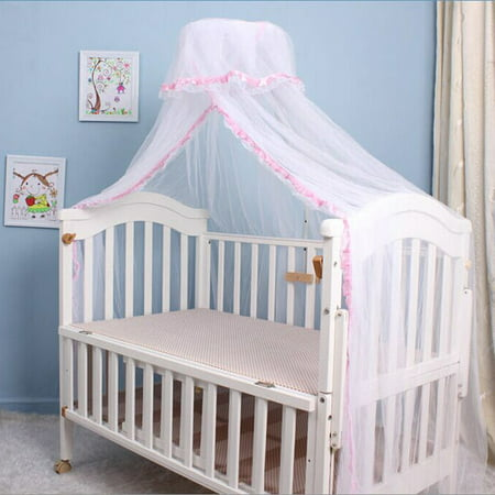 Mosquito Net, Outgeek Romantic Breathable Baby Dome Bed Canopy Netting for Baby Children Toddler Bedroom Nursery (Pink) (Canopy Cribs)