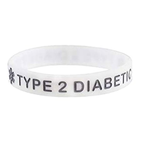 Raypadula Mens Womens Colorful Silicone Medical Alert Bracelets,Rubber Type 2 Diabetes Medical ID Cuff Bracelet Wristband Sos Emergency Health Alert Emergency Id Band