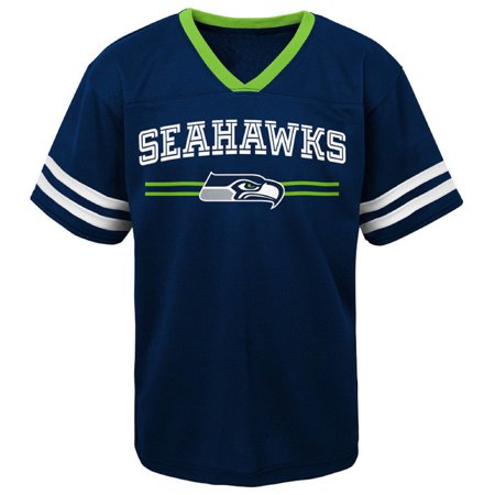 Newborn Football Jersey Shirt - Newborn & Infant College Navy Seattle Seahawks Mesh Jersey T-Shirt