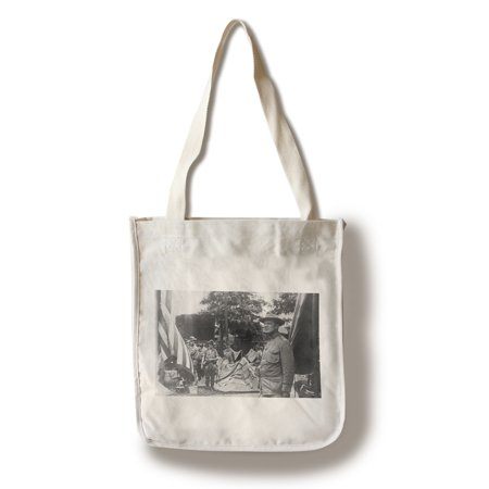 Springfield  Illinois   First Cavalry Setting Up Camp  100  Cotton Tote Bag   Reusable