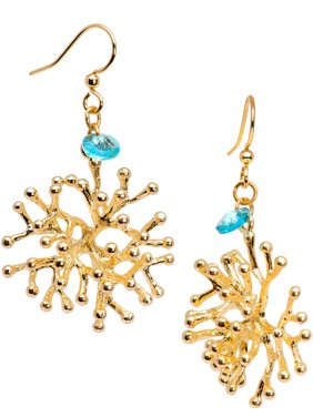 5f06dffcd Product Image Body Candy Handcrafted Gold Tone Plated Coral Fishhook  Earrings for Women Created with Swarovski Crystals