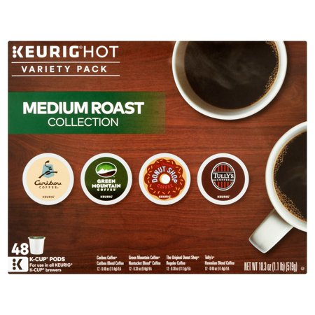 Keurig Hot Variety Pack Medium Roast Collection K Cup Pods  48Count  18 3 Oz