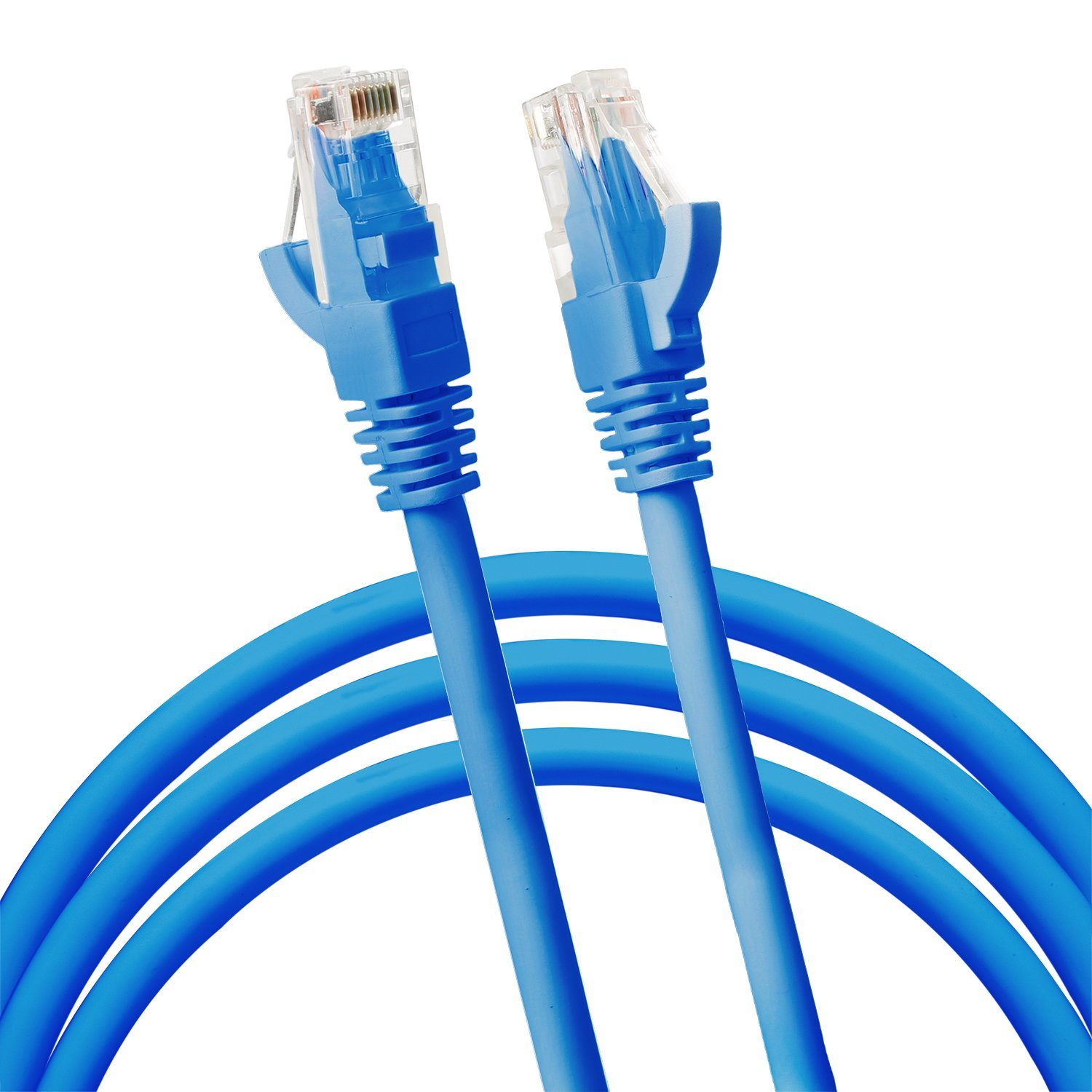 Jumbl Cat6 RJ45 Fast Ethernet Network Cable - 5 Feet Blue