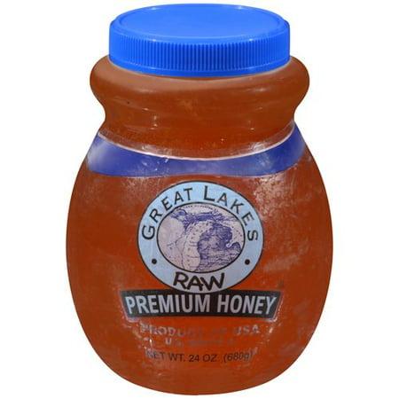 Great Lakes Raw Premium Honey  24 Oz