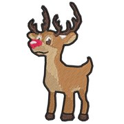 """Rudolph the Red Nosed Reindeer - 4.5"""" - Iron-On or Sew-On Embroidered Patch Novelty Applique - Christmas Child Crafts Classic Kids Movies & Books - Retro Vintage - Vacation Travel Souvenir Tourist"""