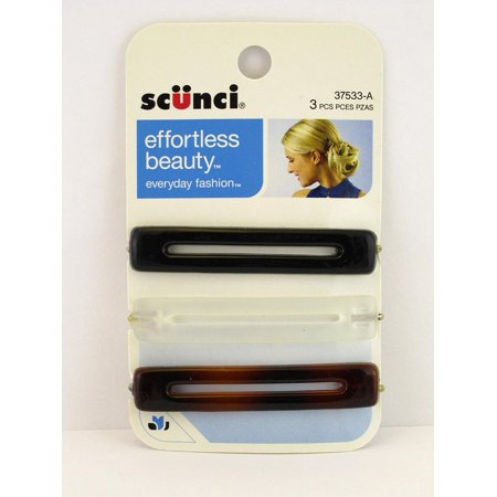 Assorted Cut Out Bobby Hair Pins - 3 Pcs., Designed to keep your hair in place & out of your face By Scunci Ship from US
