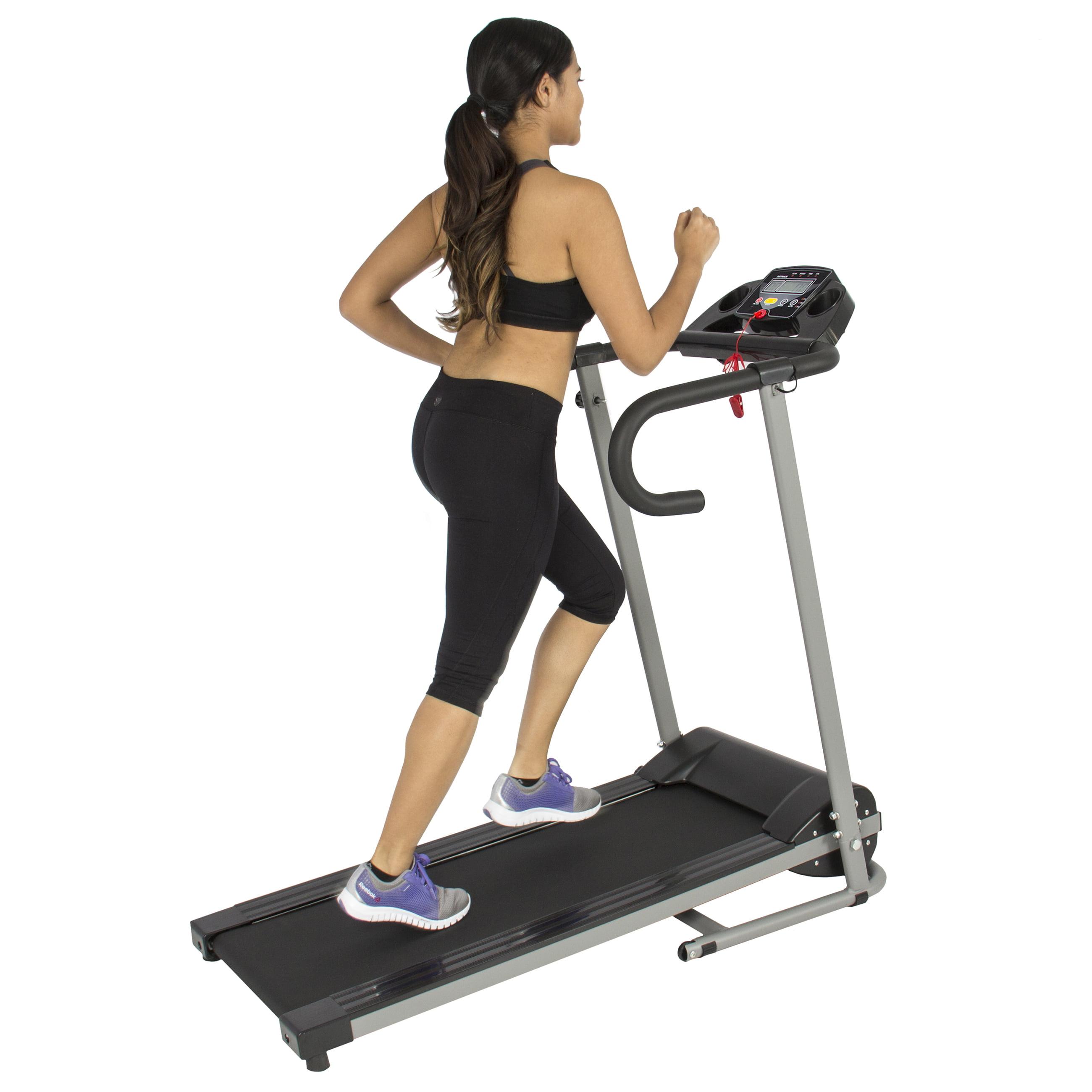 1100W Folding Electric Treadmill Portable Motorized Running Fitness Machine BK - Walmart.com