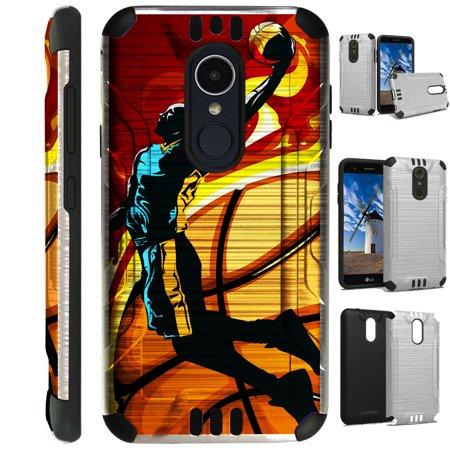 Silver Guard Phone Case Cover For LG Stylo 4 | Stylo 4 Plus | Q Stylus Q  Plus Q Alpha (Basketball Jump) - Walmart com