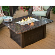 Outdoor GreatRoom Grandstone Wicker Fire Pit Table