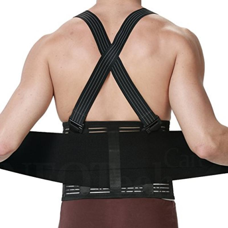 NTC Back Brace for Men with Suspenders, Support for Lower...