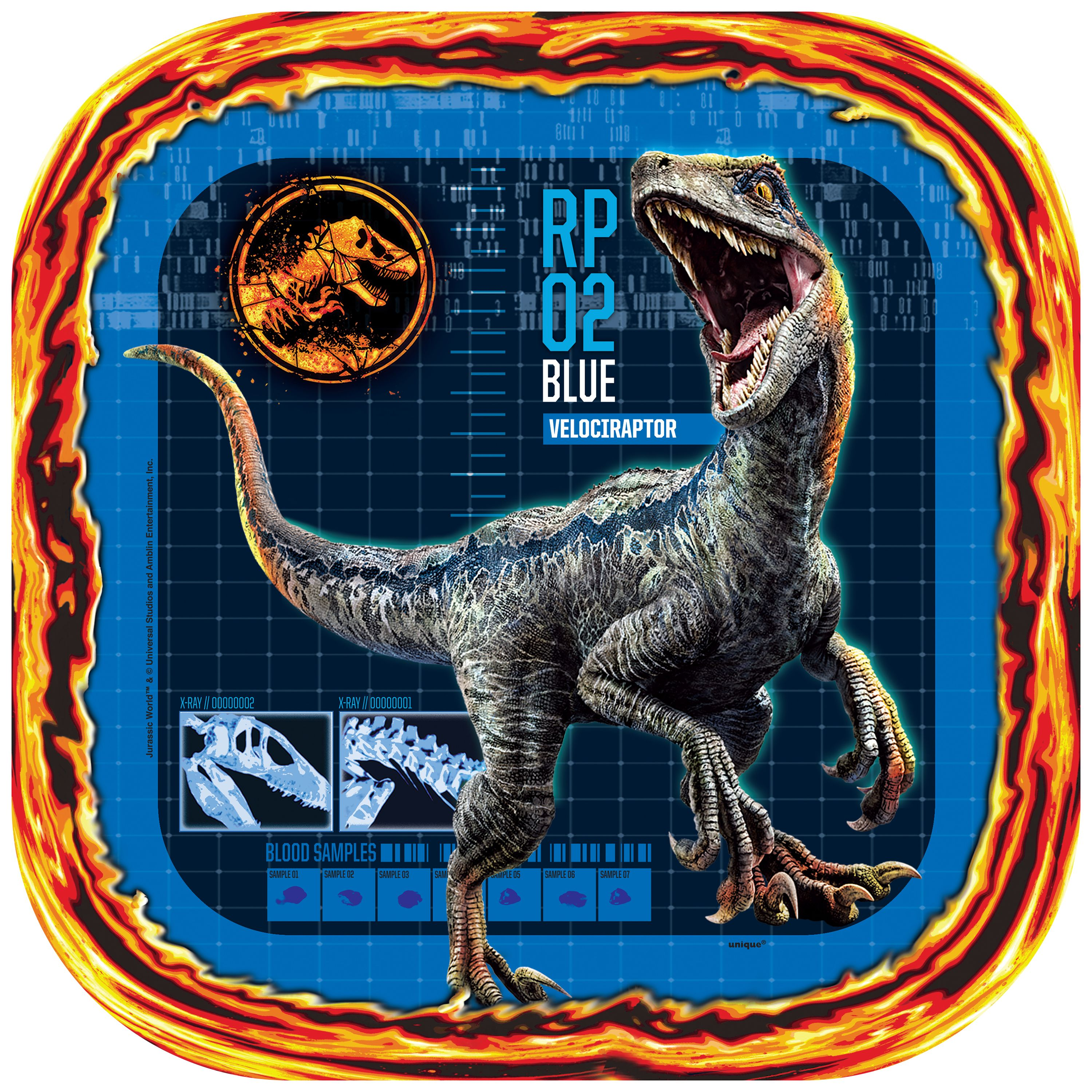 Jurassic World Paper Plates, 9 in, 8ct