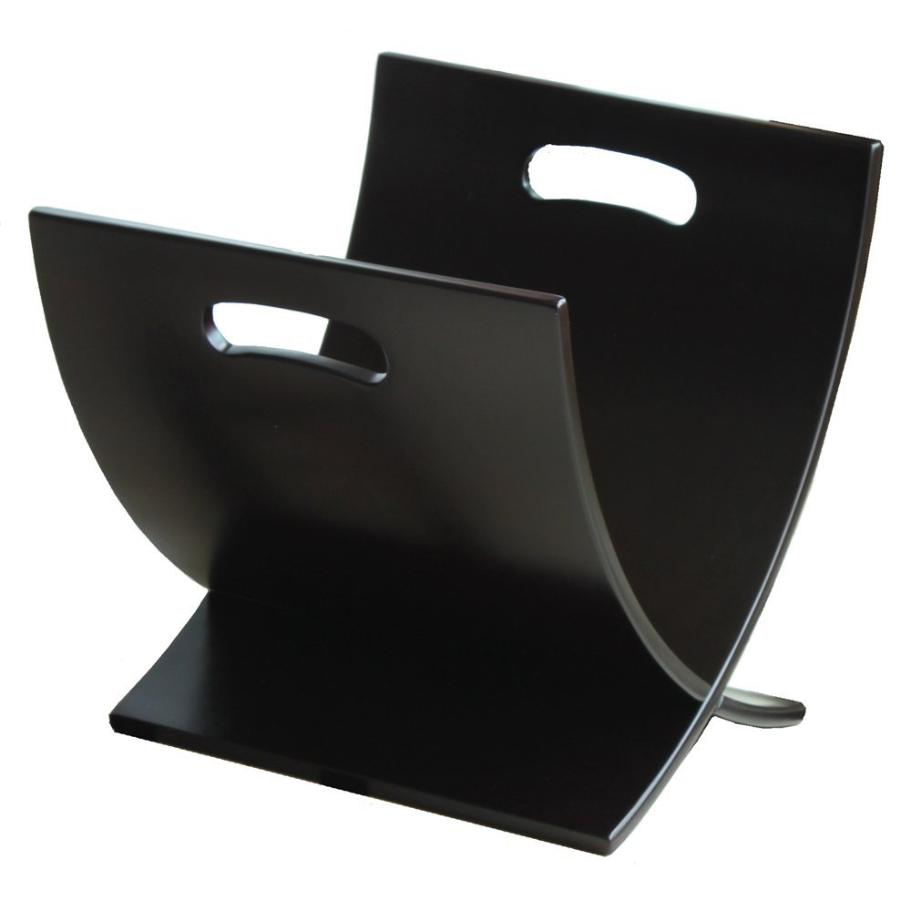 M1170 Contemporary Wooden Magazine Rack, Espresso By Oceanstar by