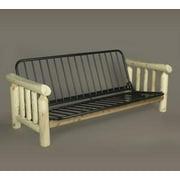 "83"" Natural Northern Cedar Indoor Log-Style Wooden Futon Bed Frame"