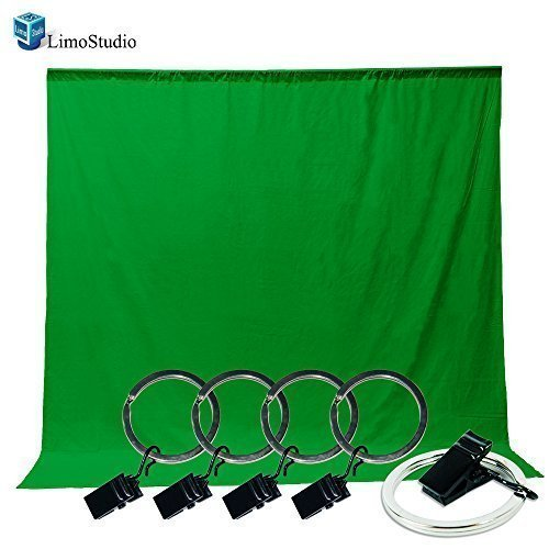Loadstone Studio Photo Video Photography Studio 6x9ft Green Muslin Backdrop Background Screen with 5x Backdrop Holder Kit, WMLS3330
