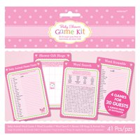 Baby Shower 'Welcome Little One Girl' Game Kit (41pc)