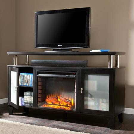 Southern Enterprises Peachtree Media Console Fireplace - Black