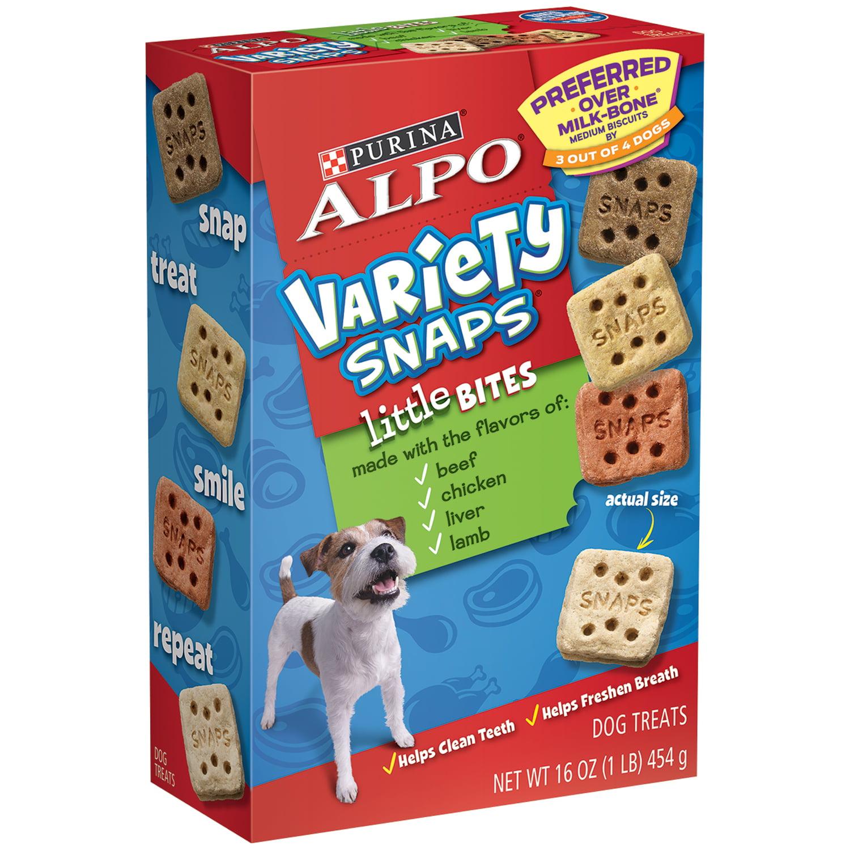 Purina Alpo Variety Snaps Little Bites Dog Treats Beef, Chicken, Liver & Lamb, 16.0 OZ by Nestlé Purina PetCare Company