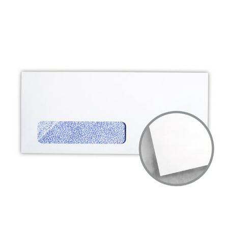 Printmaster White w/Blue Security Tint Envelopes - No. 10 Window (4 1/8 x 9 1/2) 24 lb Writing Wove 500 per