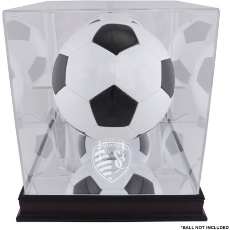 Sporting Kansas City Mahogany Team Logo Soccer Ball Display Case