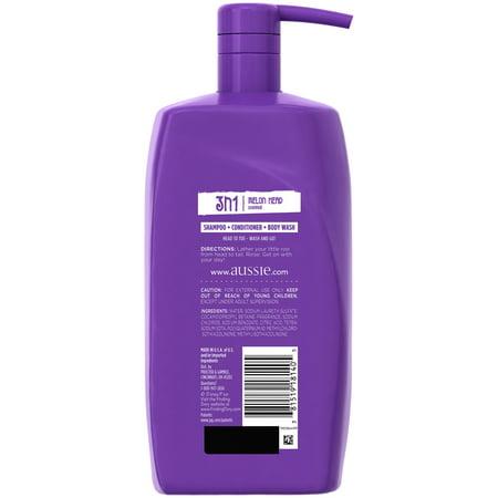 Aussie Kids 3 In 1 Shampoo  Conditioner   Body Wash  Melon Head  29 2 Oz